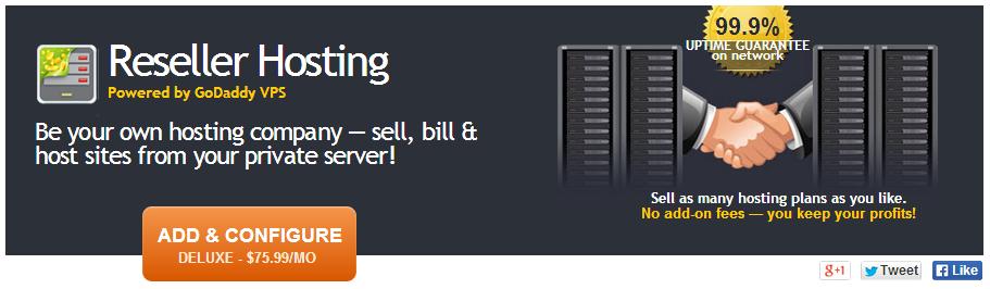 GoDaddy reseller hosting
